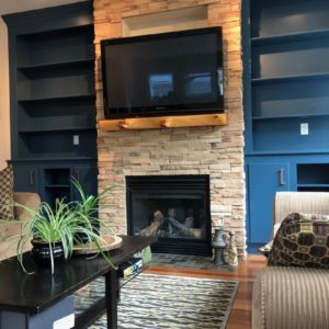 Bookshelf and Entertainment Unit Painted Blue