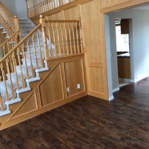 Light Oak Railing and Panelling - Before