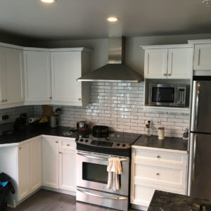 Maple Kitchen Cabinets Painted White
