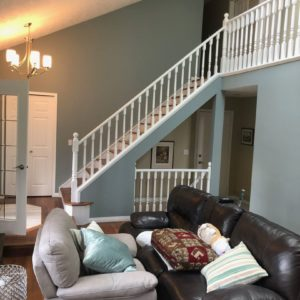 Oak Railings and Spindles Painted White