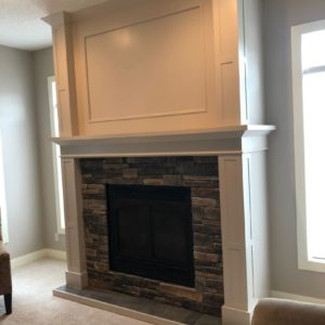 Painted Maple Fireplace Mantel - After