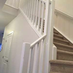 Painting Wood Railings White - After