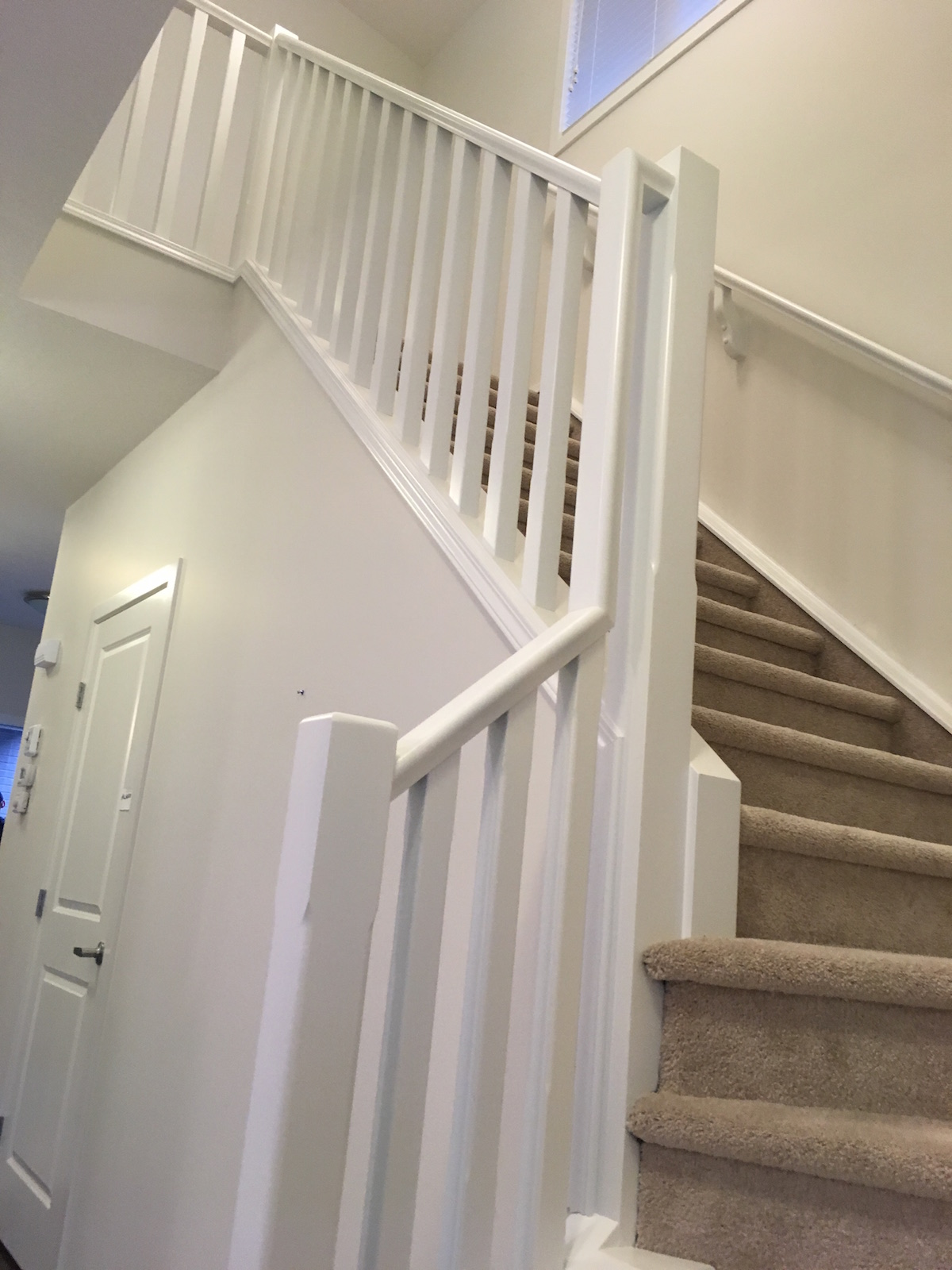 Painting Stairs Amp Railings Calgary Dramatic Results A
