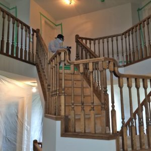Refinishing Stair Stringers - Stained Oak