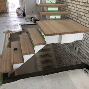 Refinishing Stair Treads & Landing Before-3
