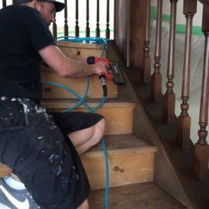 Refinishing Staircase & Banister