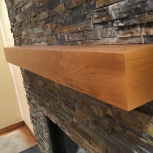 Stained Clear Coated Fireplace Mantel - After