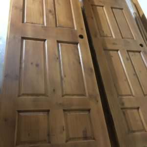 Stained Knotty Pine Doors