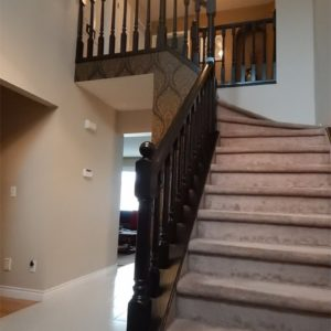Staining Railing & Spindles