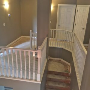 White Railing & Spindles - After